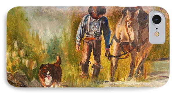 IPhone Case featuring the painting Break For The Ride by Karen Kennedy Chatham