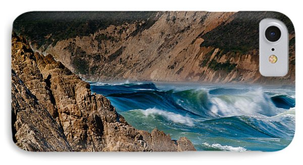 Breakers At Pt Reyes Phone Case by Bill Gallagher