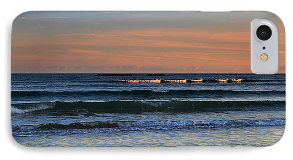 Breakers At Sunset Phone Case by Louise Heusinkveld