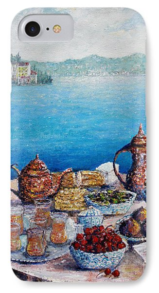 Breakfast In Istanbul Phone Case by Lou Ann Bagnall