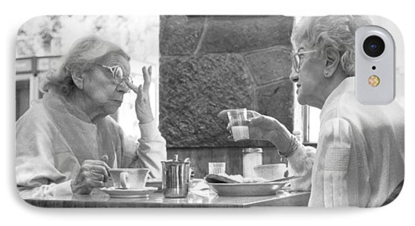 IPhone 7 Case featuring the photograph Breakfast Ladies by Dave Beckerman