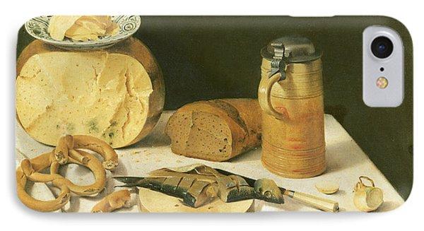Breakfast Still Life Oil On Canvas IPhone Case by Johann Georg Hinz