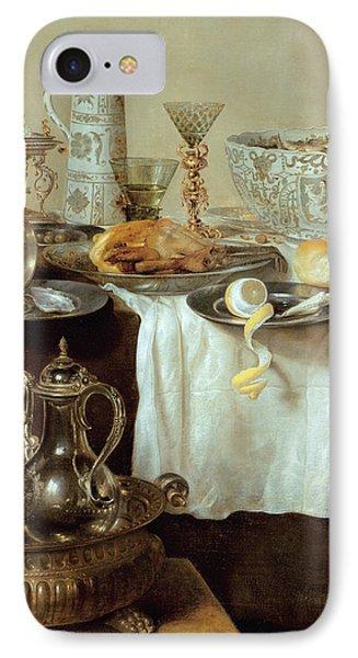 Breakfast Still Life IPhone Case by Willem Claesz Heda