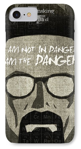 Breaking Bad Walter White Poster IPhone Case by Albert Lewis