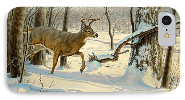 Breaking Cover-whitetail Phone Case by Paul Krapf