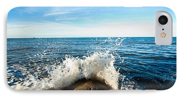 Breaking Waves IPhone Case by Carole Hinding