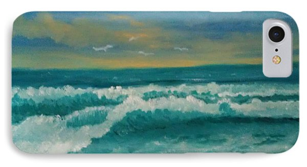 IPhone Case featuring the painting Breaking Waves by Holly Martinson