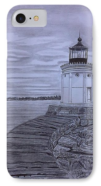 Breakwater Bug Lighthouse IPhone Case by Tony Clark