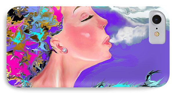 IPhone Case featuring the drawing Just Breathe by Lori  Lovetere