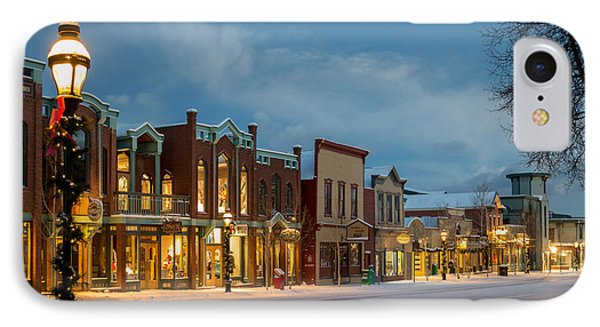Breckenridge Main Street IPhone Case by Michael J Bauer