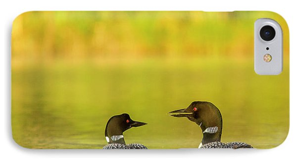 Loon iPhone 7 Case - Breeding Pair Of Common Loons by Chuck Haney