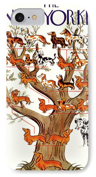 Breeds Tree IPhone Case by Constantin Alajalov