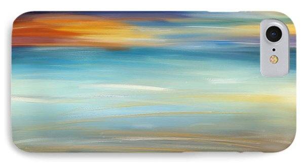 Breeze-seascapes Abstract Art IPhone Case by Lourry Legarde