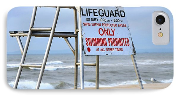 Breezy Lifeguard Chair IPhone Case by Maureen E Ritter