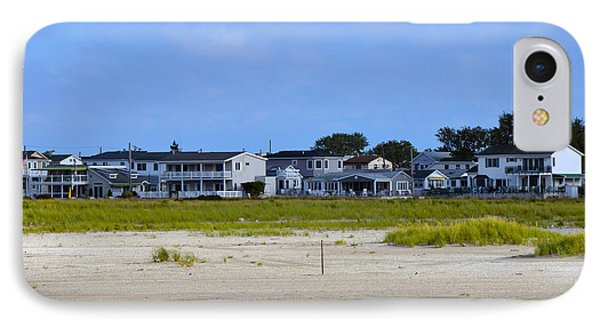 Breezy Point As Seen From Beach August 2012 IPhone Case by Maureen E Ritter