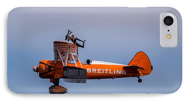 IPhone Case featuring the photograph Breitling Wingwalker Cockpit Stand by Scott Lyons