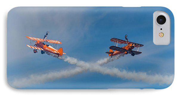 IPhone Case featuring the photograph Breitling Wingwalkers Cross Sunderland 2014 by Scott Lyons