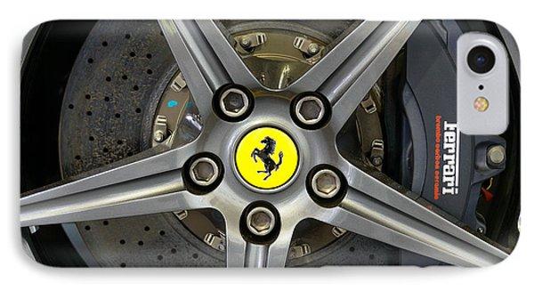 Brembo Carbon Ceramic Brake On A Ferrari F12 Berlinetta IPhone Case
