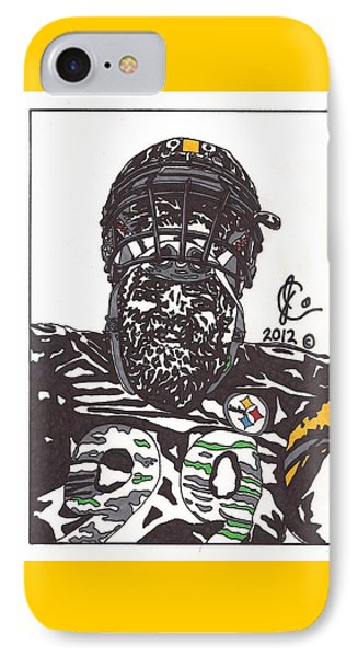 Brett Keisel 2 IPhone Case by Jeremiah Colley