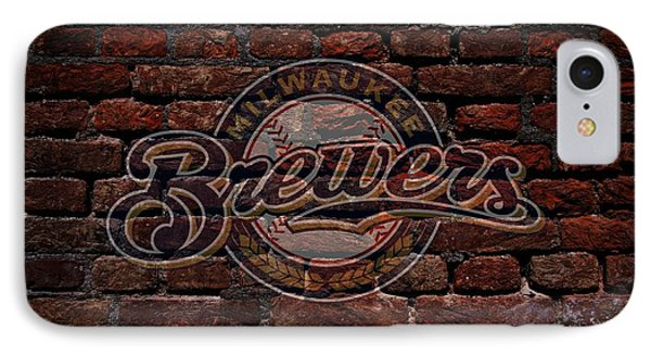 Brewers Baseball Graffiti On Brick  IPhone Case by Movie Poster Prints