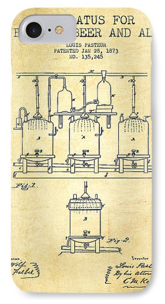 Brewing Beer And Ale Apparatus Patent Drawing From 1873 - Vintag IPhone Case