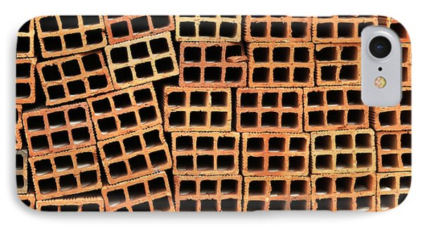 Brick Abstract IPhone Case by Vivian Christopher