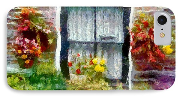 Brick And Blooms Phone Case by RC deWinter