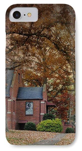 Brick Church In Autumn - Fall Landscape Scene IPhone Case