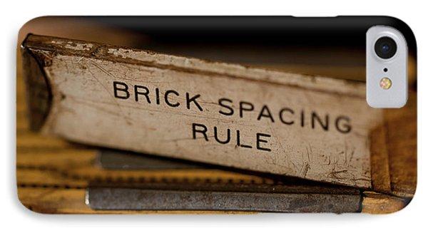 Brick Mason's Rule Phone Case by Wilma  Birdwell
