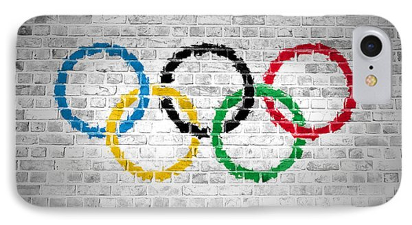 Brick Wall Olympic Movement IPhone Case by Antony McAulay