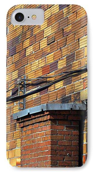 Bricks And Wires Phone Case by Ethna Gillespie