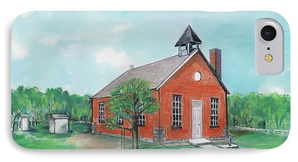 Bricktown School Phone Case by Mary Armstrong