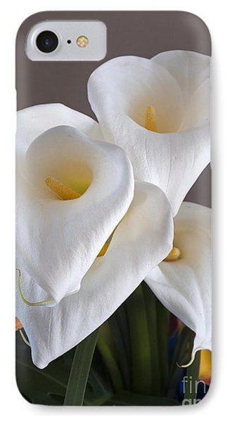 IPhone Case featuring the photograph Bridal Cali Lilies by Lula Adams