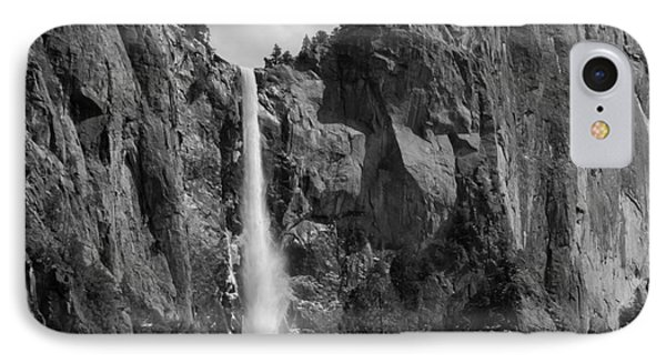Bridalveil Falls In B And W Phone Case by Bill Gallagher