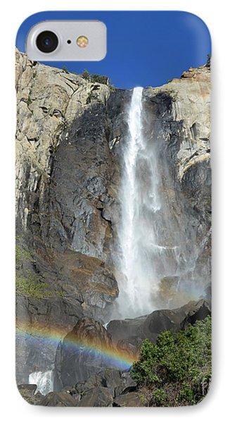 Bridalveil Falls With Rainbow IPhone Case by Debra Thompson