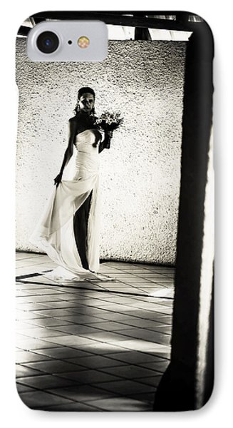Bride. Black And White Phone Case by Jenny Rainbow
