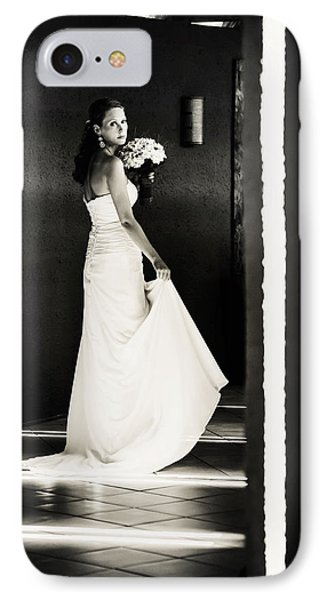 Bride I. Black And White Phone Case by Jenny Rainbow