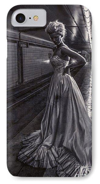 Bride In The Subway IPhone Case by Diane Diederich