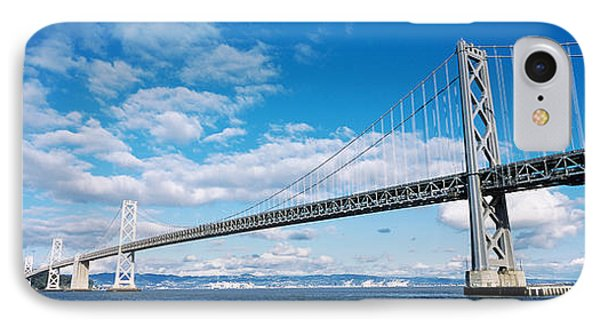 Bridge Across A Bay, Bay Bridge, San IPhone Case by Panoramic Images