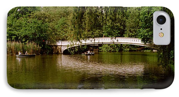 Bridge Across A Lake, Central Park IPhone Case by Panoramic Images