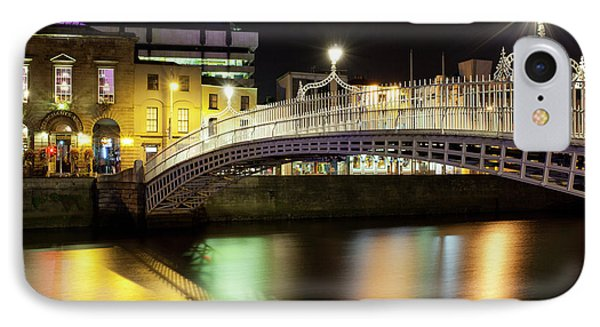 Bridge Across A River At Night, Hapenny IPhone Case
