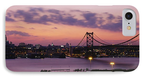 Bridge Across A River, Ben Franklin IPhone Case by Panoramic Images