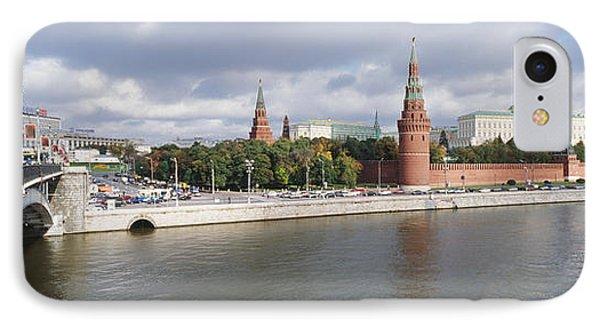 Bridge Across A River, Bolshoy Kamenny IPhone Case by Panoramic Images