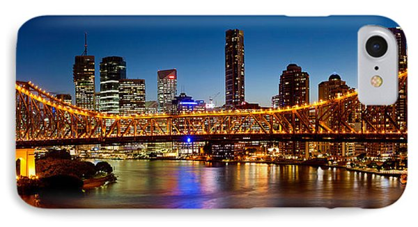 Bridge Across A River, Story Bridge IPhone Case by Panoramic Images