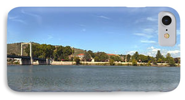 Bridge Across A River, Tain-lhermitage IPhone Case by Panoramic Images