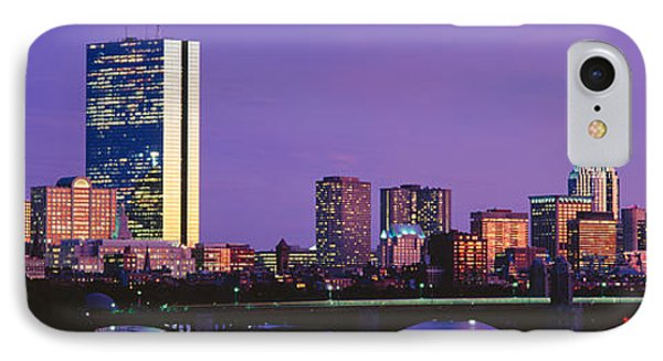 Bridge Across A River With City IPhone Case by Panoramic Images