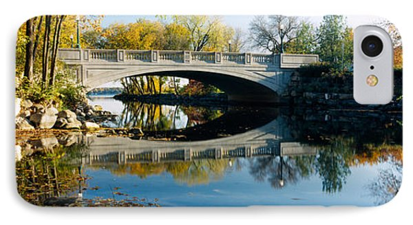 Bridge Across A River, Yahara River IPhone Case by Panoramic Images