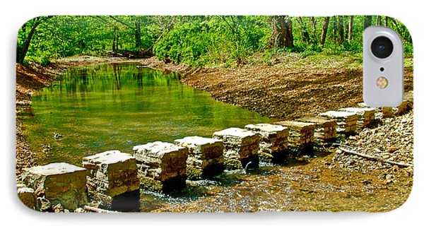 Bridge Across Colbert Creek At Mile 330 Of Natchez Trace Parkway-alabama IPhone Case by Ruth Hager