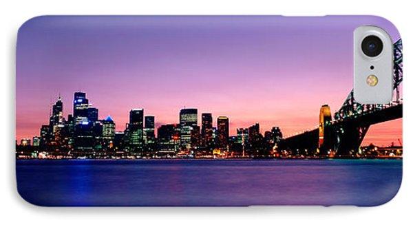 Bridge Across The Sea, Sydney Opera IPhone Case by Panoramic Images
