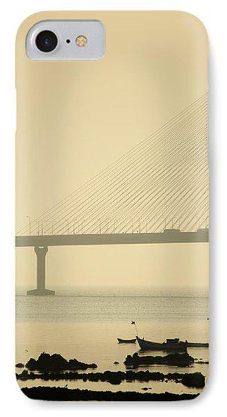 Bridge And Rocks IPhone Case by Rajiv Chopra